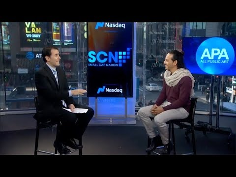 All Public Art founder interview Graham Goddard at NASDAQ