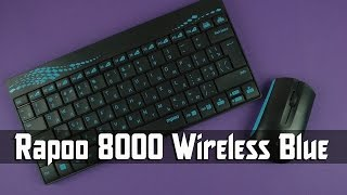 Распаковка Rapoo 8000 Wireless Blue