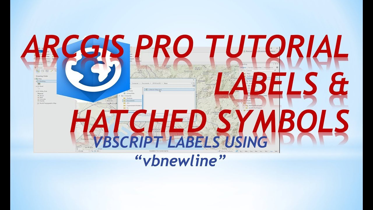 ArcGIS tutorial | Hatched symbols & Vbscript Labels in ArcGIS Pro tutorial