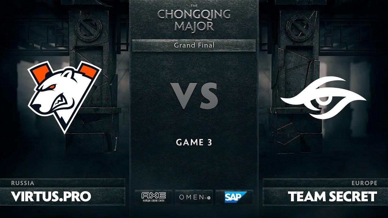[RU] Virtus.pro vs Team Secret, Game 3, The Chongqing Major Grand Final