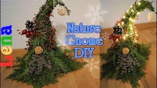 Wichtel aus Natur Materialien basteln mit Lena - Nature Gnome DIY - как сделать вечно зелёного гнома