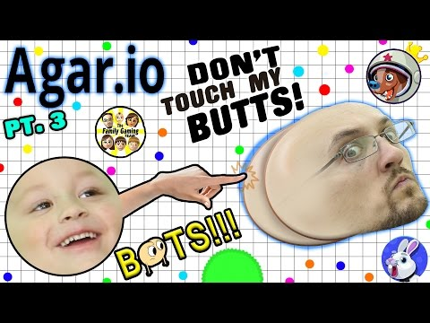 DON'T TOUCH MY BUTTS!  Duddy vs. Chase in AGAR.IO Part 3 (FGTEEV Bots Fun)