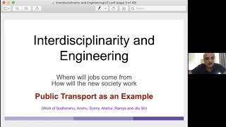 [Keynote Talk: Milind Sohoni] Interdisciplinarity and Engineering The Road Ahead