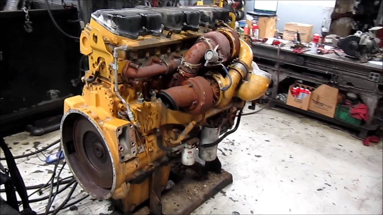 2006 cat c15 acert mxs diesel engine running