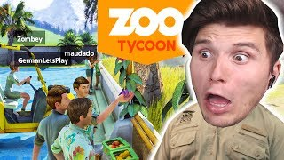 Vier Youtuber BAUEN einen ZOO | Zoo Tycoon Ultimate #01
