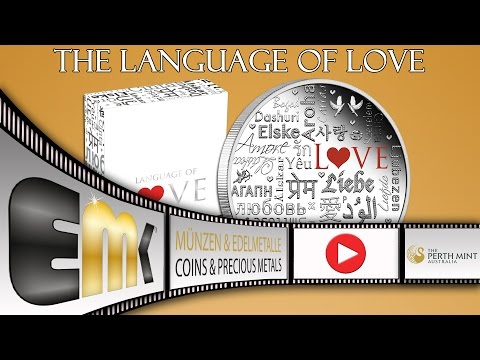 Tuvalu 2$ Dollar Language of Love 2 Oz Silver Proof Coin 2016