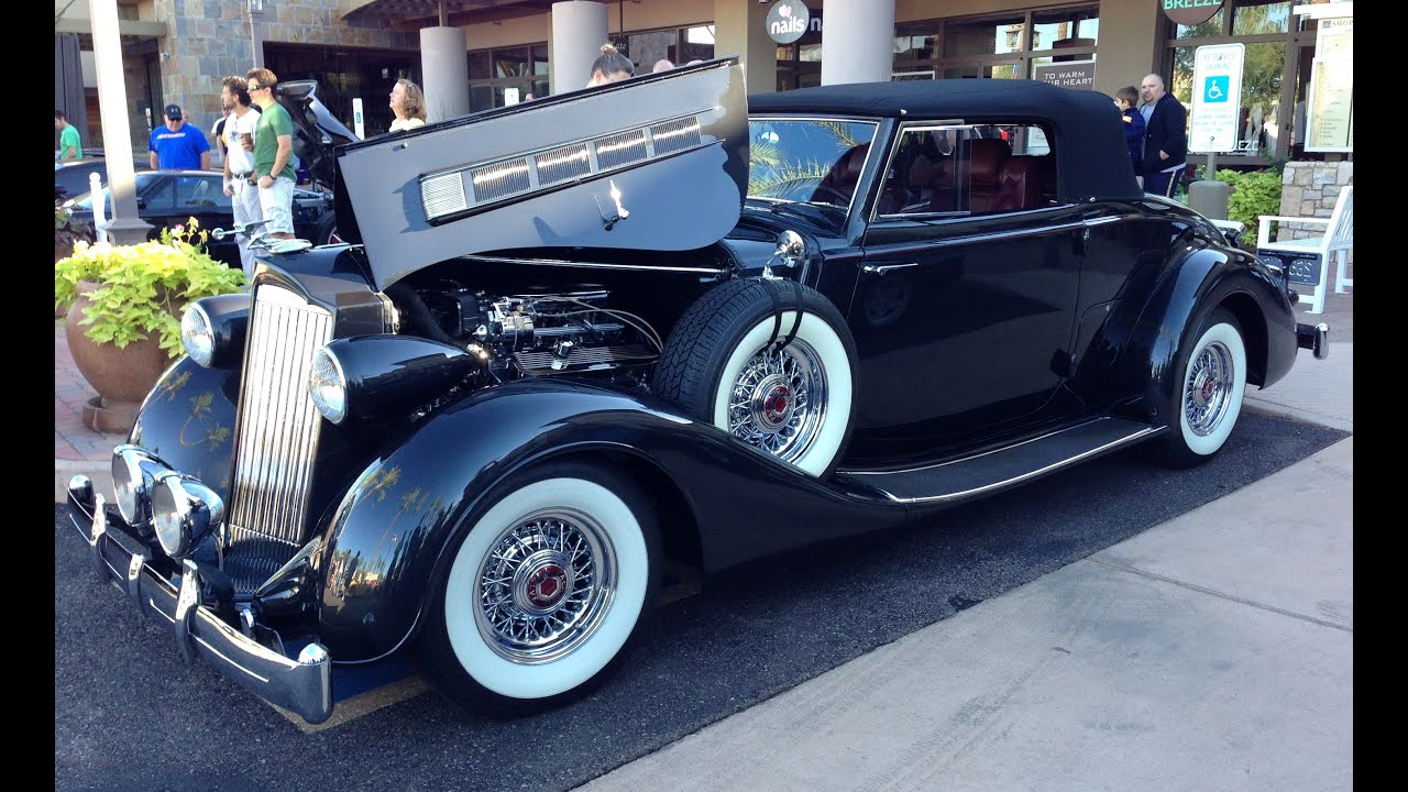 S Classic American Packard Twelve At Cars And Coffee