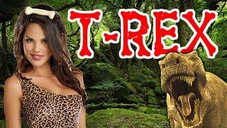 Dino & Sexy Jungle Girls ✔ JANXEN - T-REX 1.0 (synthpop 80's music) Dinosaurs World Jurassic Park