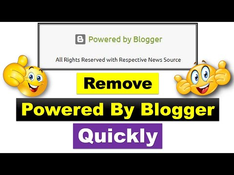 03 Simple Ways to Remove Powered by Blogger from a BlogSpot/Blogger Site [Urdu/Hindi]