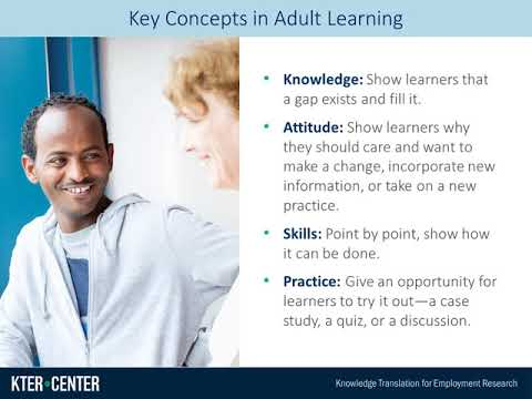 Principles of Adult Learning: Overview
