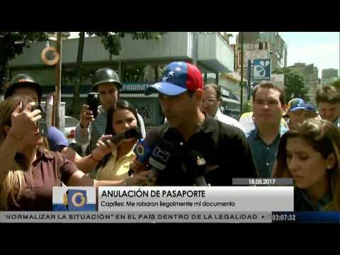Capriles denunció que fue retenido y anulado su pasaporte en aeropuerto de Maiquetía