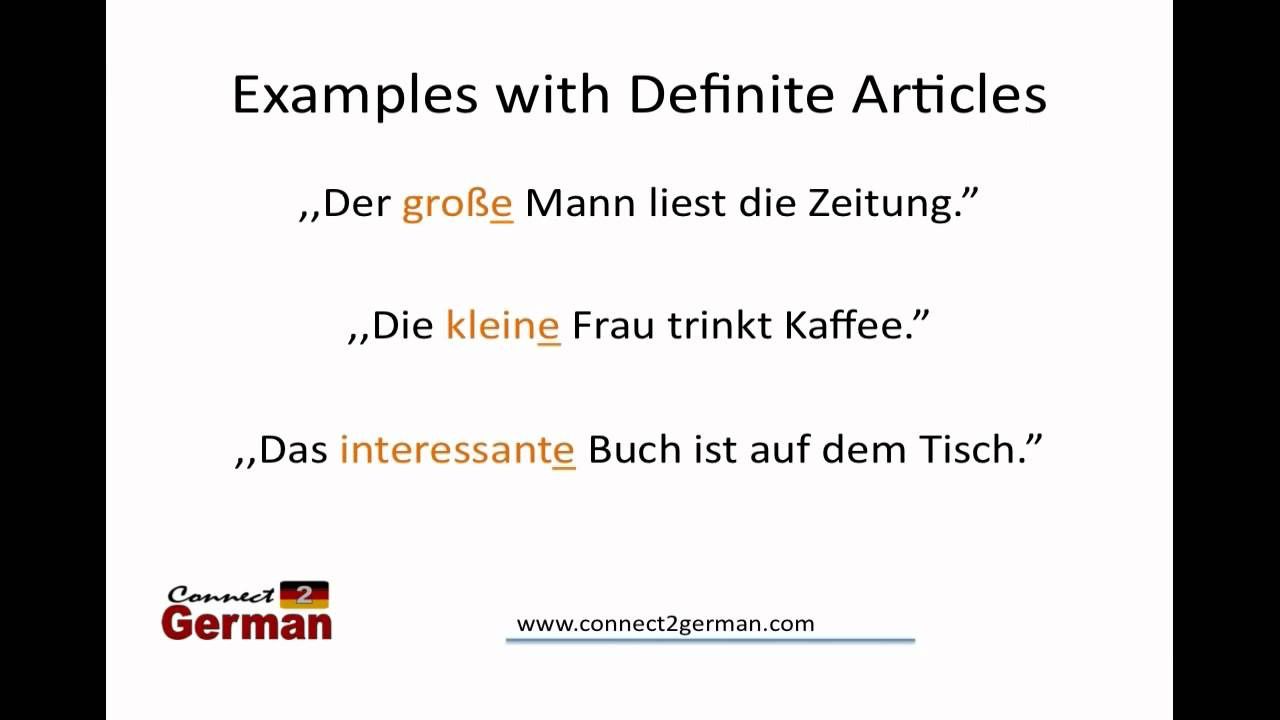 Intro To Adjective Endings In German Youtube