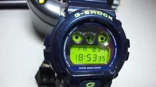 g shock dw 6900 sb with green display and metallic bands brandnew unboxing by thedoktor210884