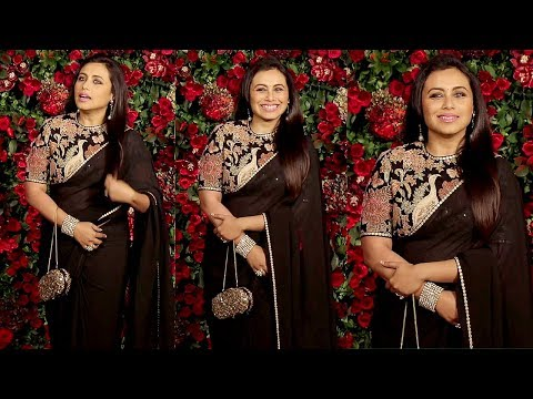 Rani Mukerji In Black Saree At Ranveer-Deepika's wedding reception