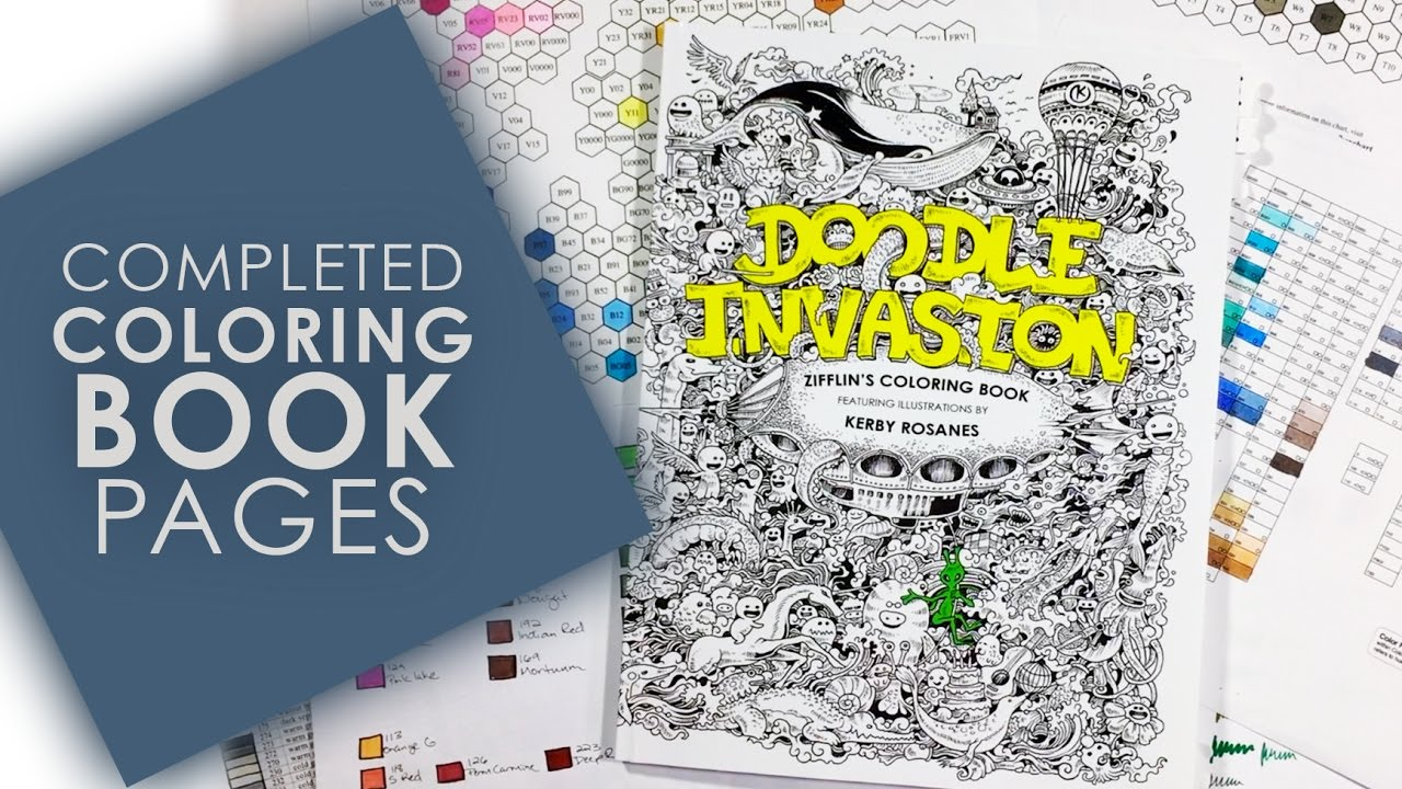 Completed Adult Coloring Book Pages