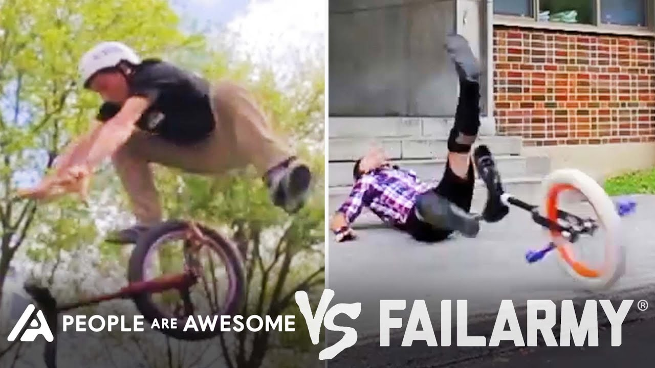 Wild Unicycle Wins Vs. Fails & More!   People Are Awesome Vs. FailArmy