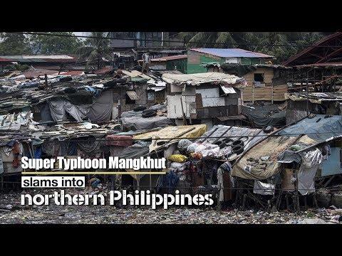 "Live: Super Typhoon Mangkhut slams into northern Philippines超强台风""山竹""将登陆菲律宾"
