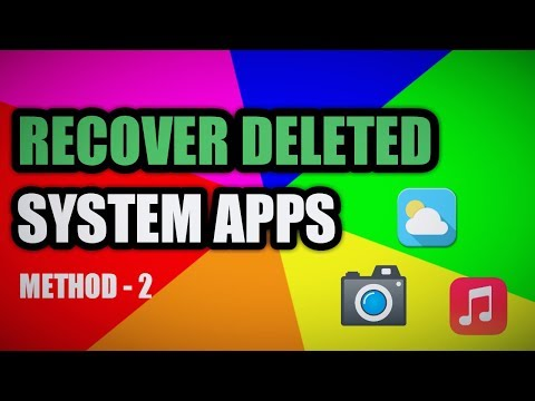 Recover DELETED SYSTEM APPS In Android - Method 2