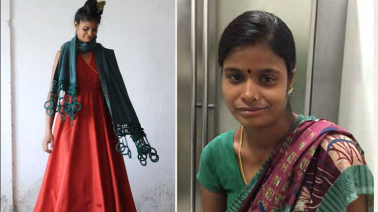 Maid turned into gorgeous model by delhi fashion designer youtube ccuart Choice Image