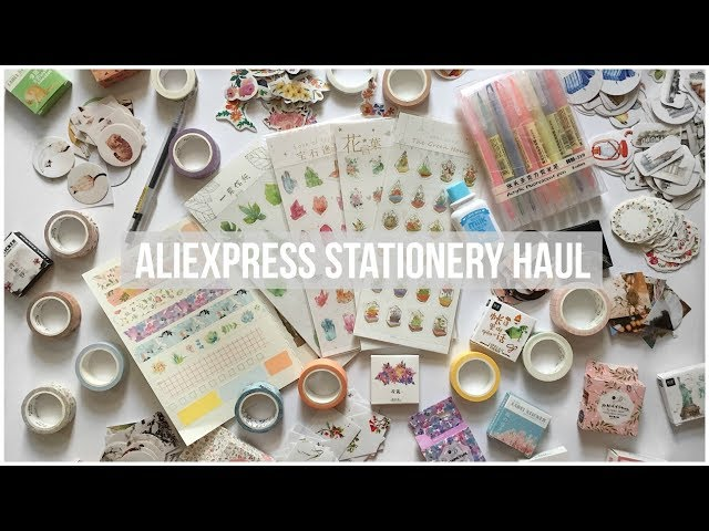 HUGE ALIEXPRESS STATIONERY HAUL // Washi Tape Swatches & Journal Stickers