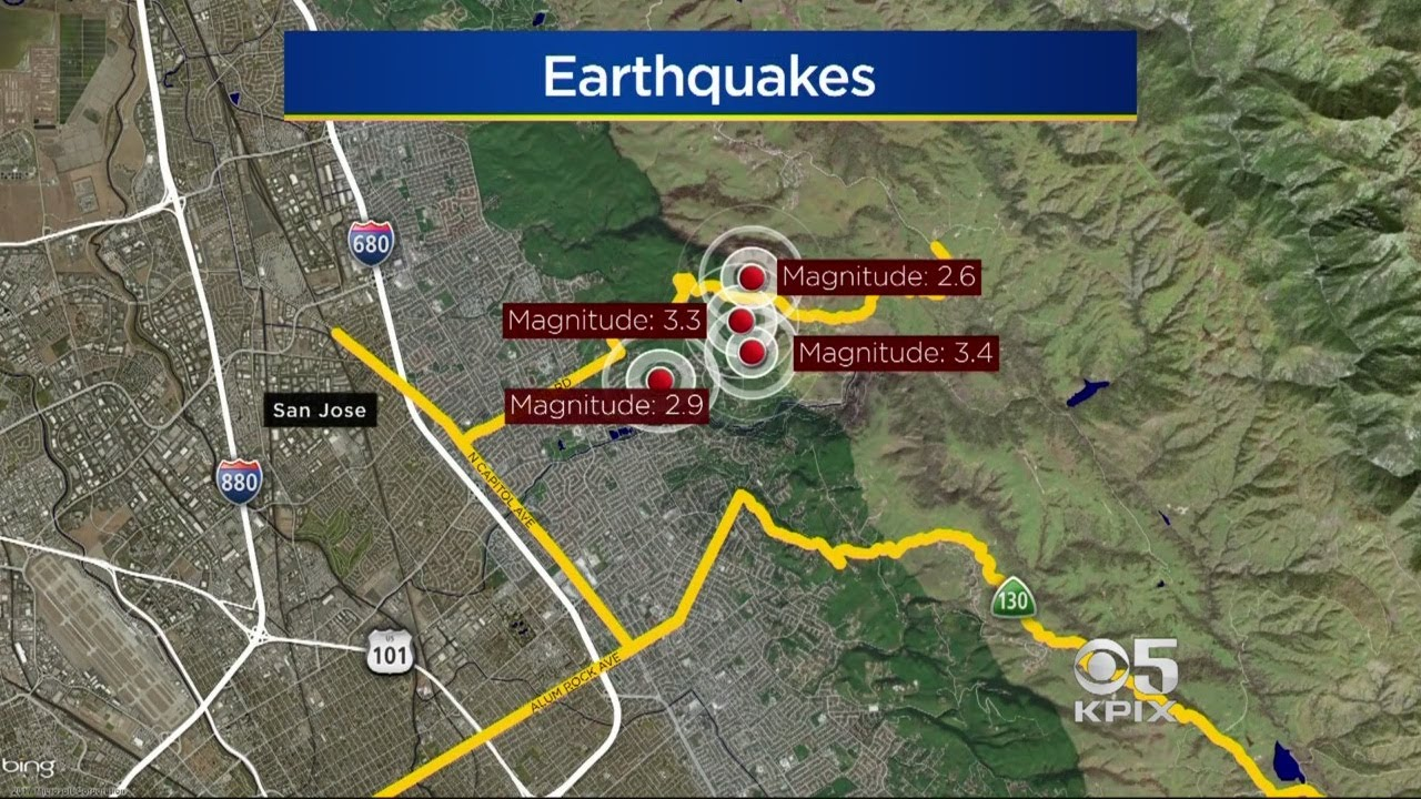 Earthquakes rattle San Jose  but not the big one