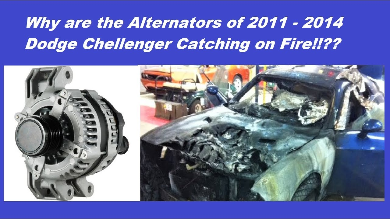 2011 To 2014 Dodge Challenger Alternator Catching On Fire Review