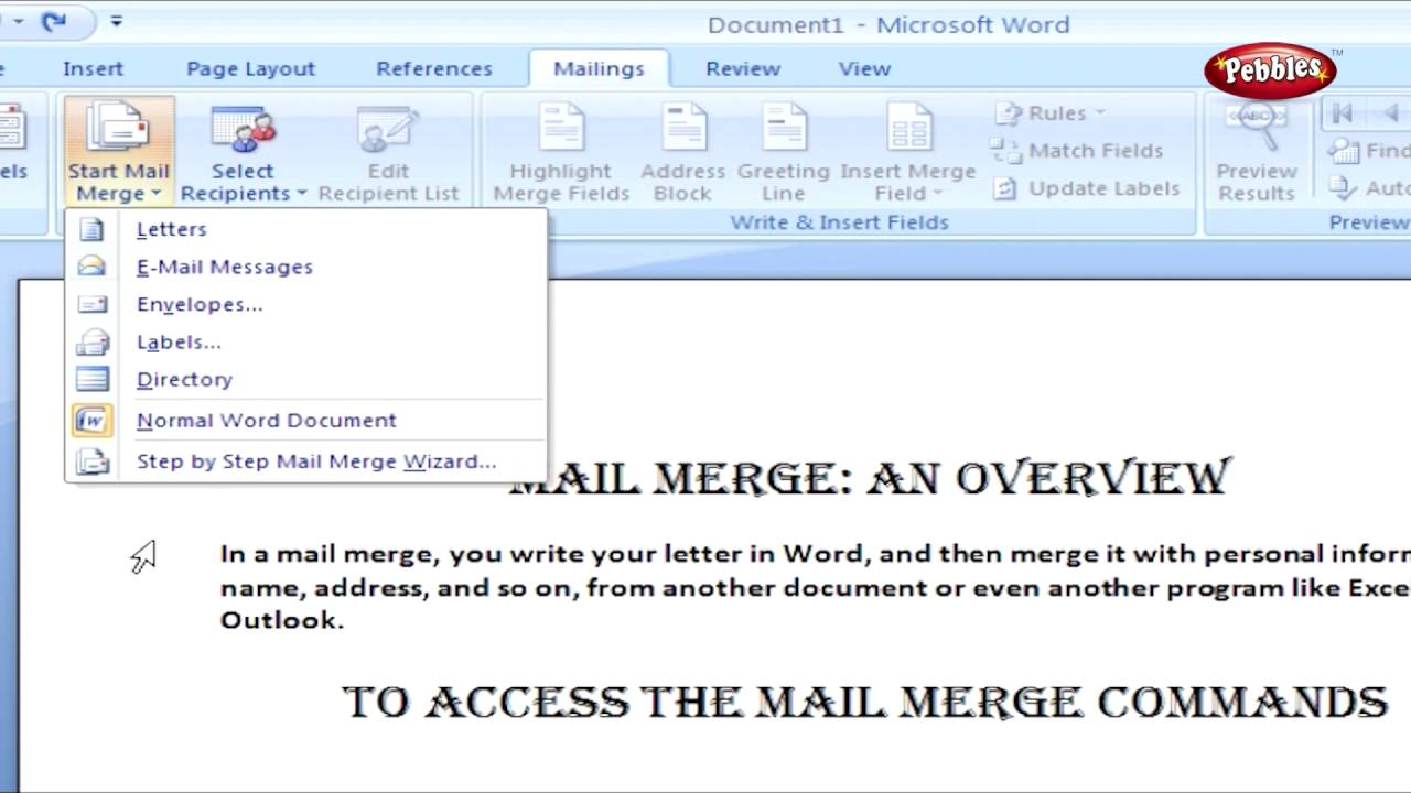 Online Class: Learn to use Mail Merge - MassHire ...