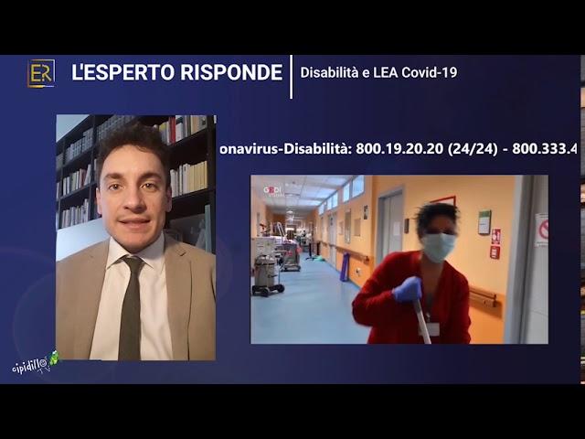 L'esperto Risponde, Disabilità e Covid 19