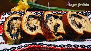 Reteta de Cozonac traditional cu nuca, rahat si cacao (De Gen Feminin)