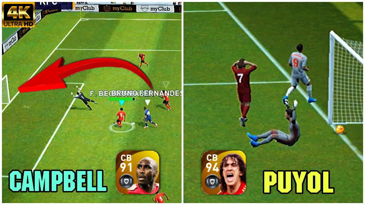 The Legends mistakes Campbell & Puyol in PES 2021 Mobile