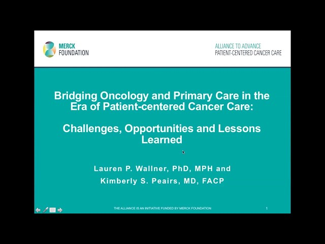 Bridging Primary Care and Oncology in the Era of Patient-Centered Cancer Care