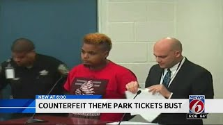 Counterfeit theme park tickets bust