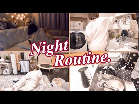 【Mommy Night Routine☆】食材買い出しから寝るまでの主婦のナイトルーティン!
