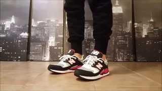 New Balance 530 90'S in Black Grey Red (ON FEET)