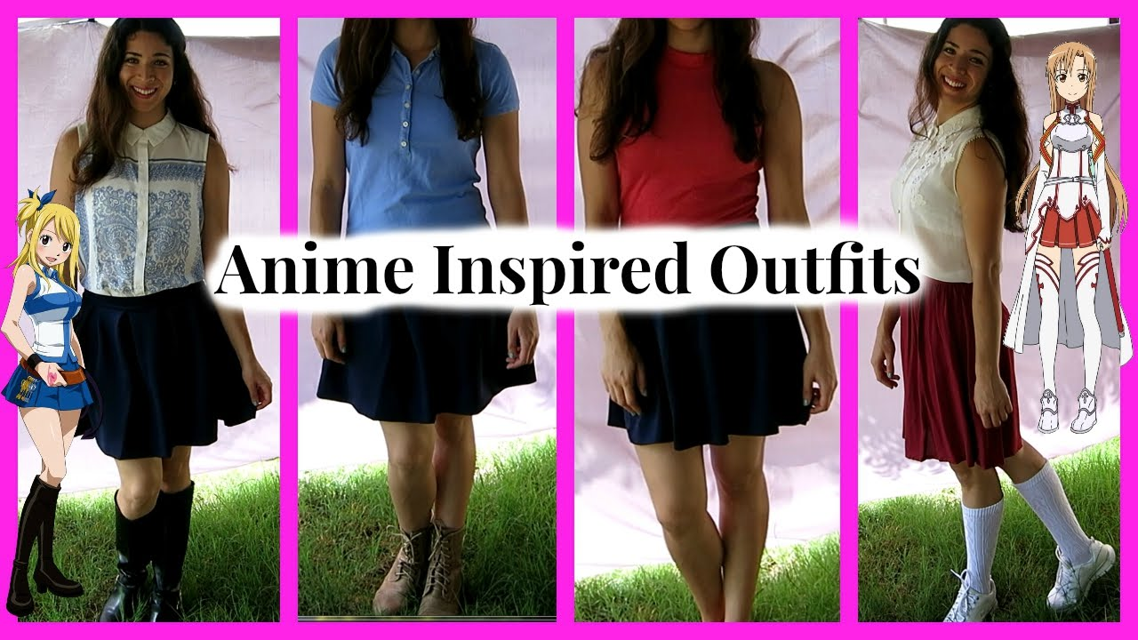 Anime Inspired Outfits - YouTube