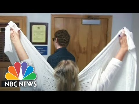 Mother Shields Brock Turner As He Registers As Sex Offender In Ohio | NBC News