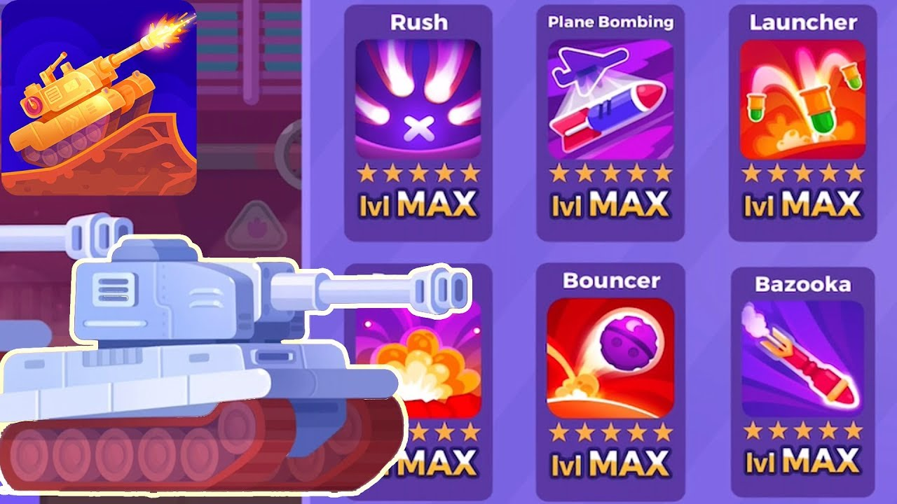 Tank Stars - Gameplay Walkthrough part 103 - Tank Tiger All Weapon Max  lvl(iOS,Android)