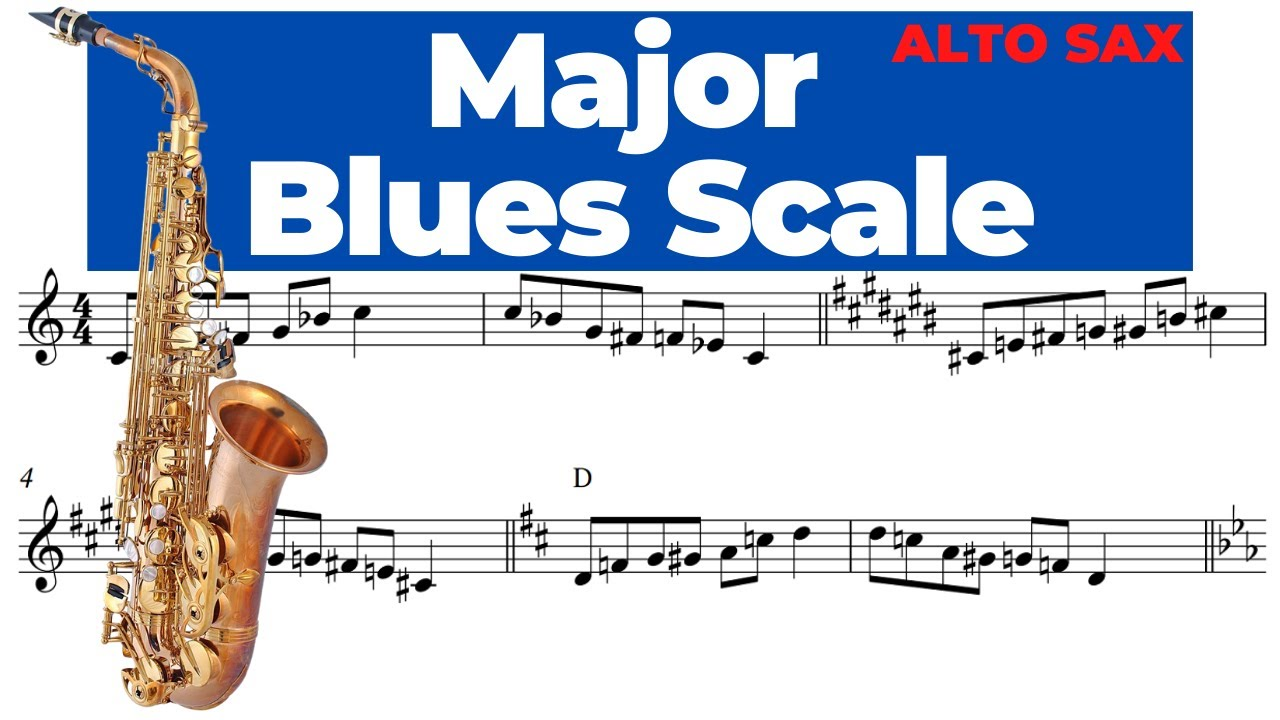 MAJOR BLUES SCALE [alto sax] ESCALA DE BLUES MAIOR