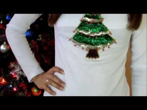 Diy como decorar tus camisas para abrir los regalos de - Como decorar pinas para navidad ...
