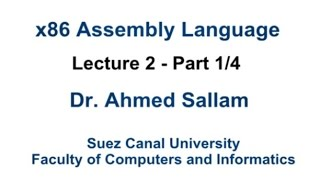 x86 assembly language لغة التجميع lecture 2 part 1 4