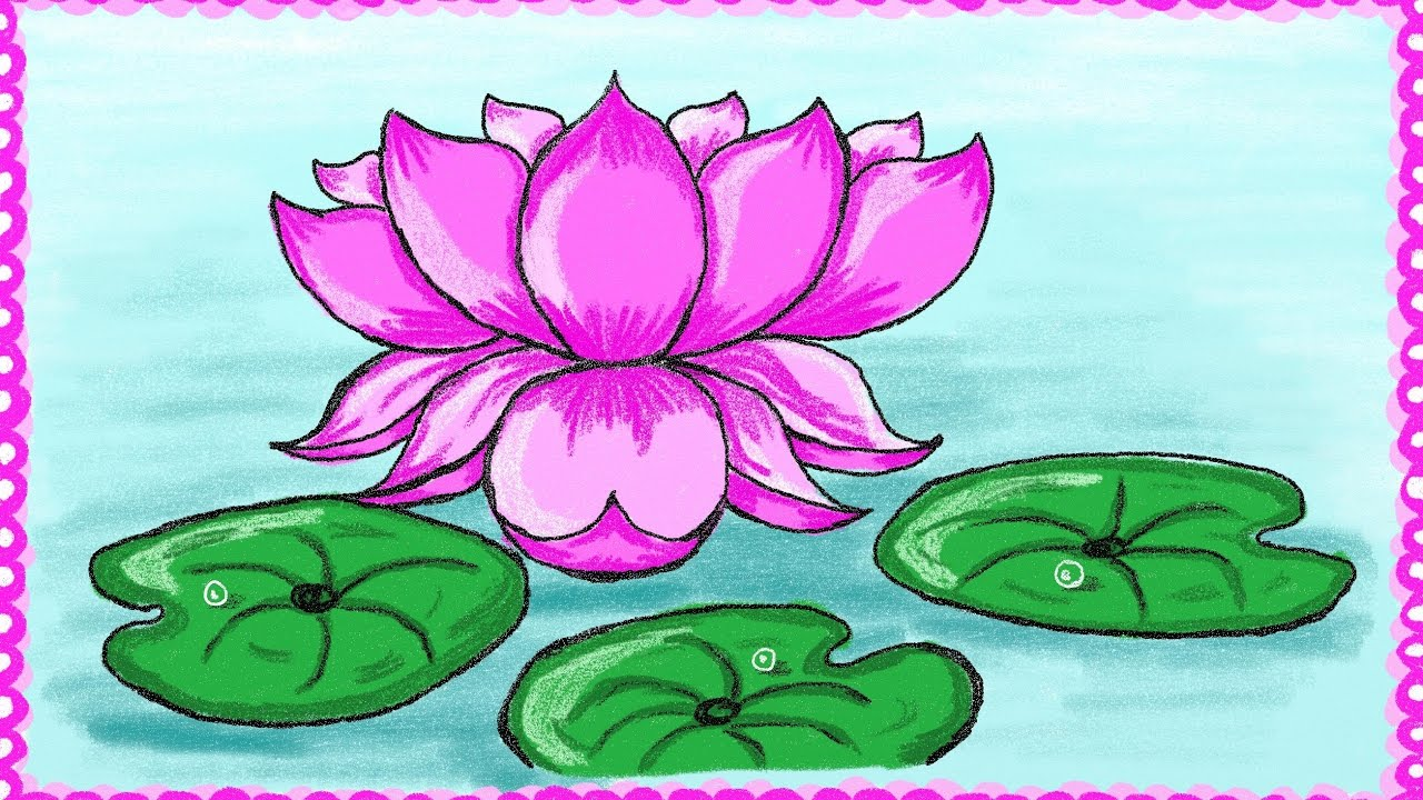Drawing a simple lotus flower how to draw lotus drawing for kids drawingforkids letuslearntogether howtodrawflowers izmirmasajfo