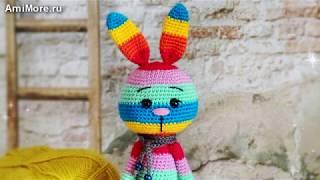 Амигуруми: схема Радужный заяц. Игрушки вязаные крючком - Free crochet patterns.