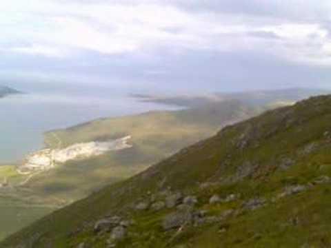 Glamaig Isle of Skye Golf Club moraine climb