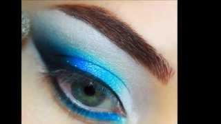 Форма макияжа Кошачий глаз  Акварельная техника