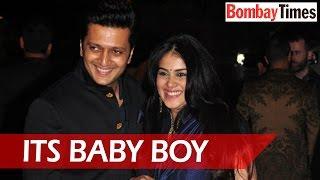 Riteish Deshmukh-Genelia Blessed With Son - BT