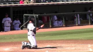 00202 austin hedges catching in between innings AFL 2013