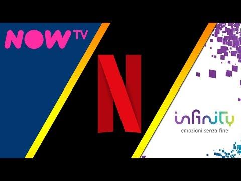 Meglio NETFLIX, INFINITY o NOW TV?