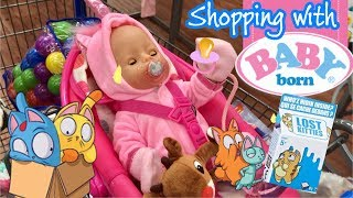 Baby Born outing to Walmart with Bella and Reagan toy hunting at Walmart