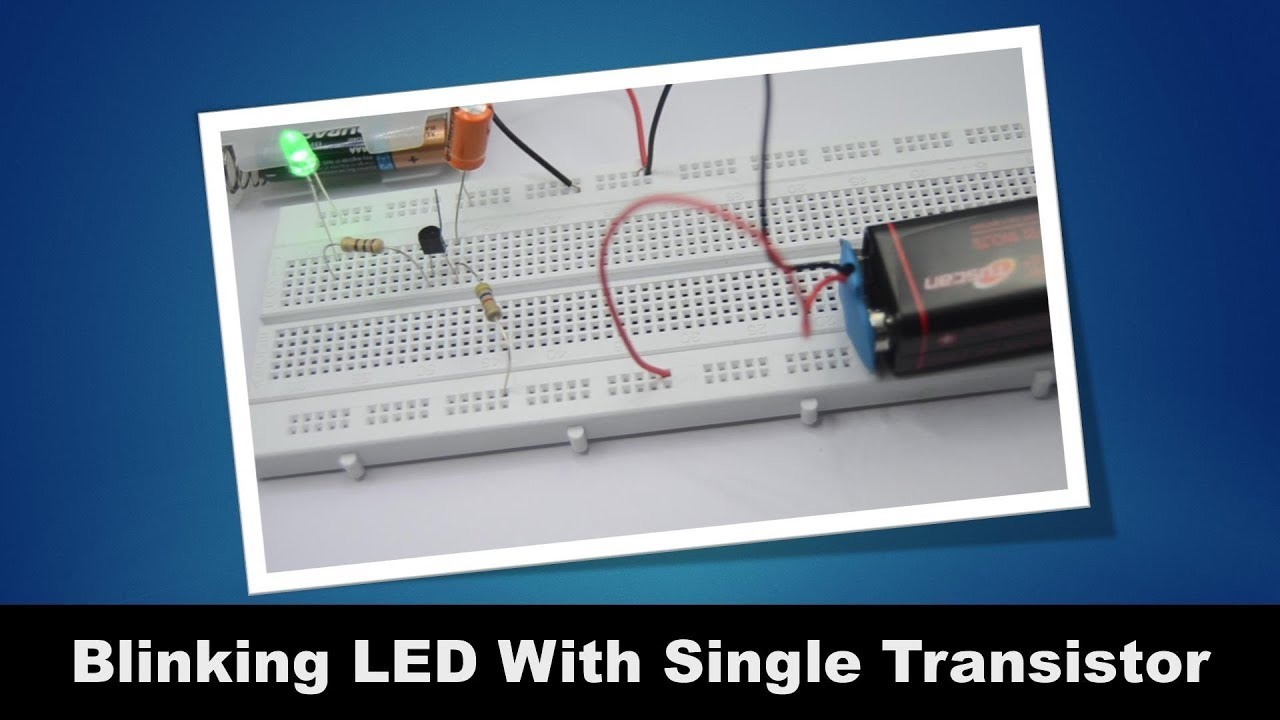 Circuits Collection One Transistor Led Blinker