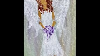 Angel Acrylic Painting Easy Step By Step Part One Live Youtube